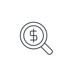 finance and money magnifying glass with dollar vector image