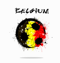 Flag of belgium as an abstract soccer ball vector