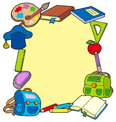 frame from school objects vector image