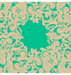Frame lace-like vector