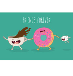 Friends forever vector