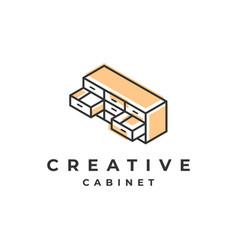 furniture logo design vector image