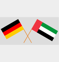 germany and united arab emirates flags vector image