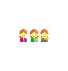 girls logo icon vector image