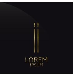 Golden I Letter vector image