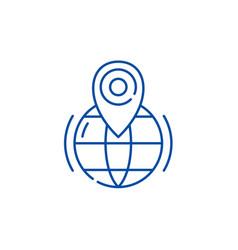 gps line icon concept gps flat symbol vector image