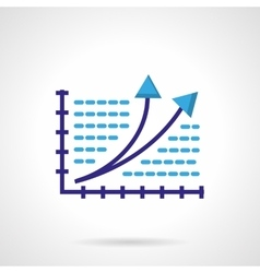 Growth chart color icon vector