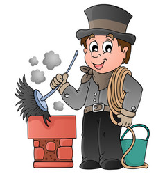 happy chimney sweeper vector image