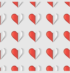 hearts abstract love backgroundvalentines day vector image