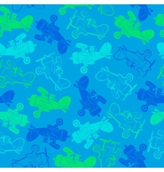 Helicopters seamless pattern vector