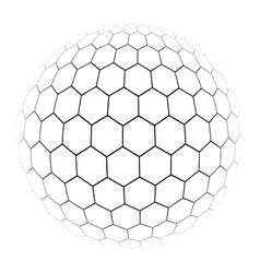 hexagon simple a gray scale vector image
