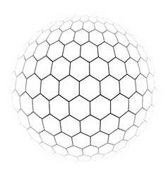 hexagon simple of a gray scale vector image