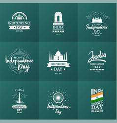 india independence day 15 august vector image