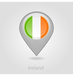 Ireland flag pin map icon vector image
