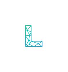 l letter network logo icon design vector image