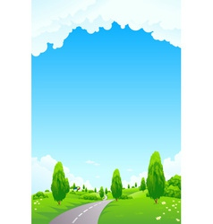 landscape with trees vector image
