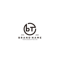 Letter bt logo design vector