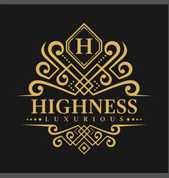 Letter h logo - classic luxurious style logo vector