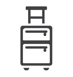 luggage solid icon travel and tourism vector image