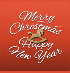 merry christmas and happy new year web banne vector image