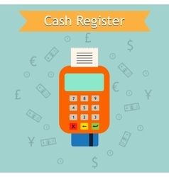Mobile cash register machine Retail vector image