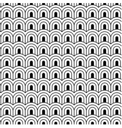 monochrome seamless pattern with chinese waves in vector image