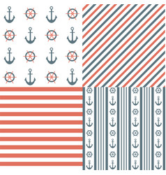 Nautical seamless patterns vector