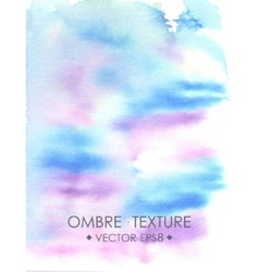 Ombre watercolor violet Hand drawn ombre texture vector image