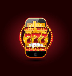 Online gambling concept cellphone casino app vector