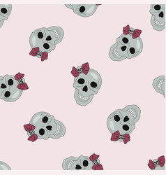 Party skull halloween seamless pattern vector