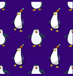 Pinguins seamless pattern vector