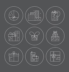 Present icons vector