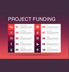 Project funding infographic 10 option template vector