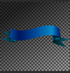 realistic shiny blue ribbon banner isolated vector image