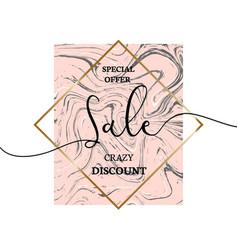 sale design for banner or brochure vector image