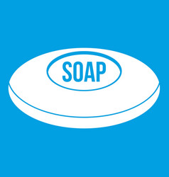 Soap icon white vector