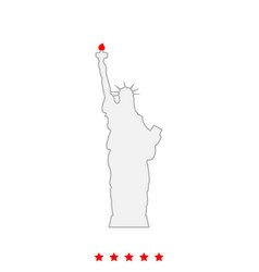 statue of liberty it is icon vector image