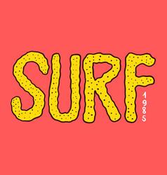 surf badge vintage surfer logo retro vector image