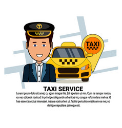 taxi service icons on white background with copy vector image