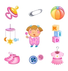 Toys and accessories vector