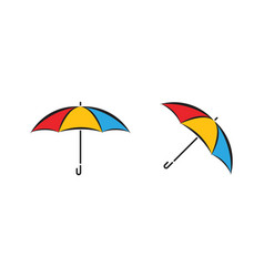 umbrella icon design vector image