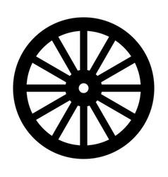 Wagon wheel silhouette vector