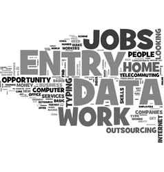 Why data entry work from home text word cloud vector