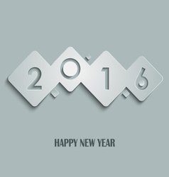Abstract cube New Years wishes template vector image vector image