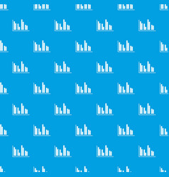 financial analysis chart pattern seamless blue vector image vector image
