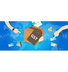 GST Good and Services Tax concept vector image