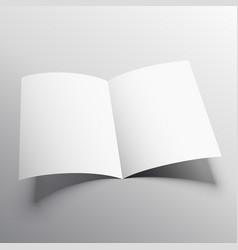 open book or bi-fold brochure mockup template vector image
