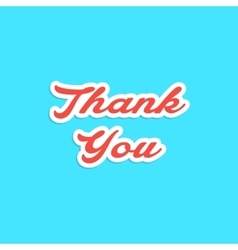 red inscription thank you sticker vector image
