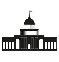 white house congress black icon on white vector image