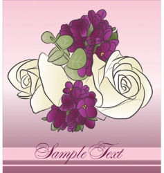beautiful bouquet vector image vector image